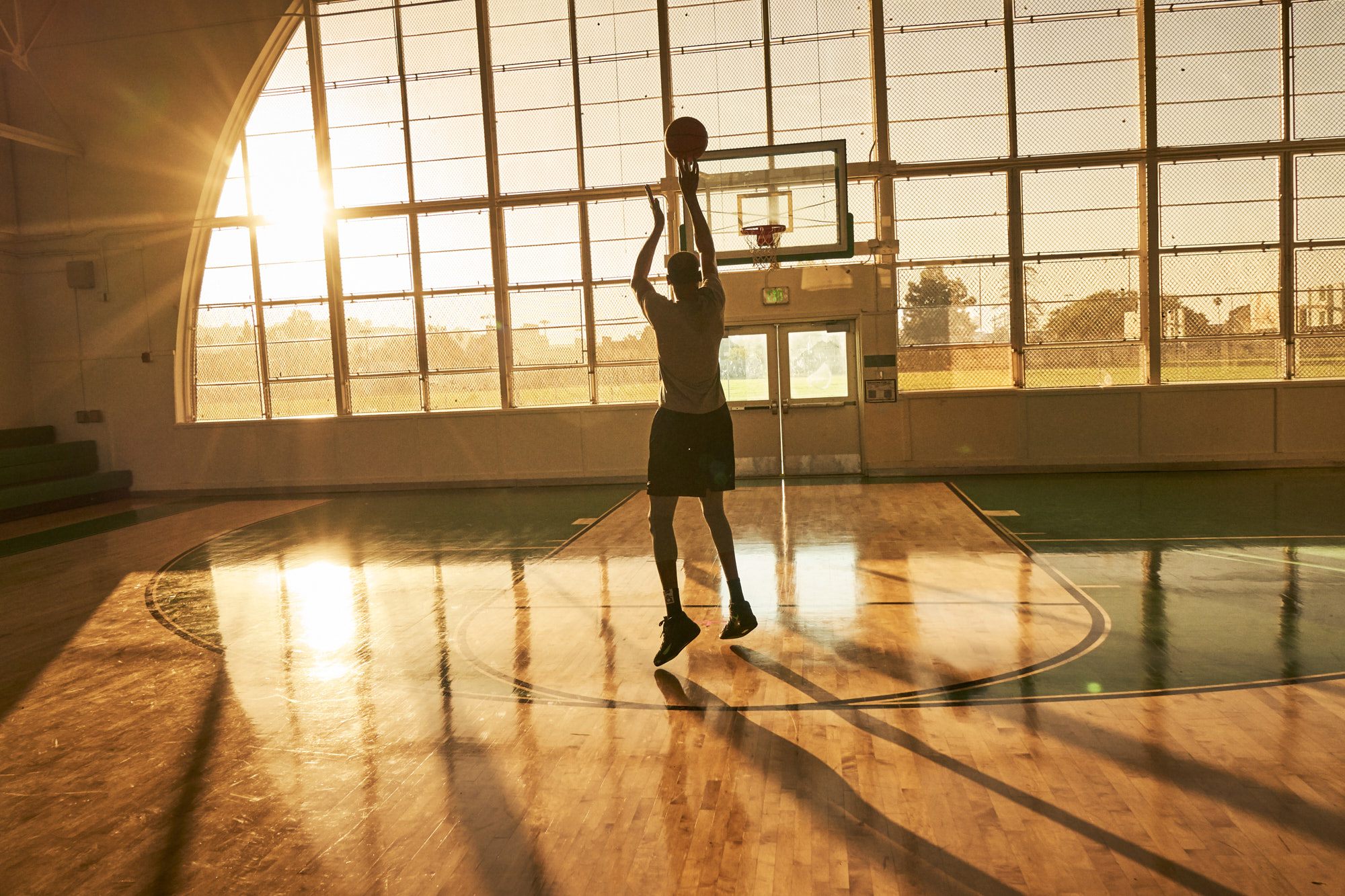 Commercial advertising photoshoot with celebrity athlete Kevin Durant for a national campaign.