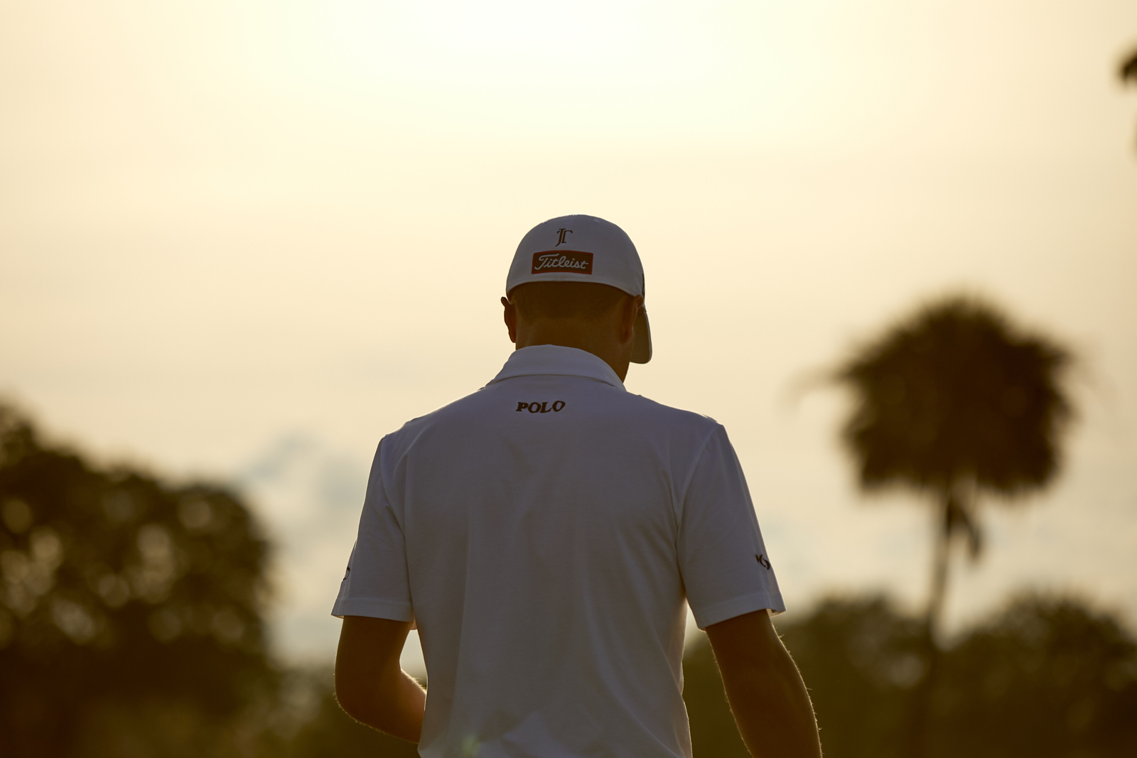Golf and PGA celebrity champion Justin Thomas on the golf course in South Florida shot commercially with Citi Bank.