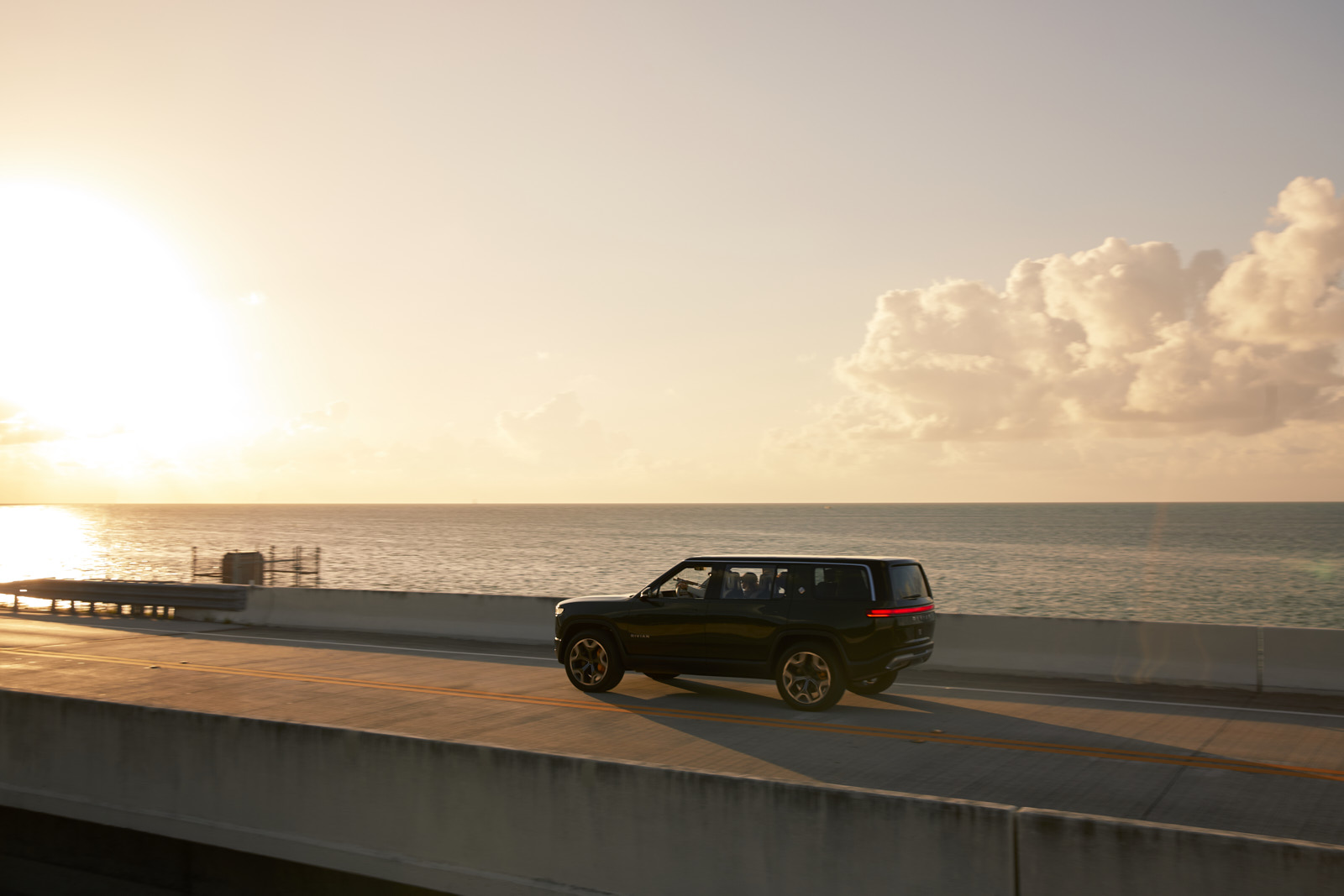 Automotive advertising directed and photographed by Dylan Johnston for electric vehicle Rivian. Shot on location in the Florida Keys throughout a weekend adventure fly fishing and camping in Arizona.